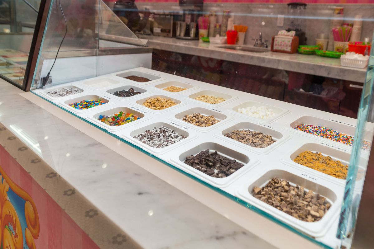 Toppings at Sloan's Ice Cream