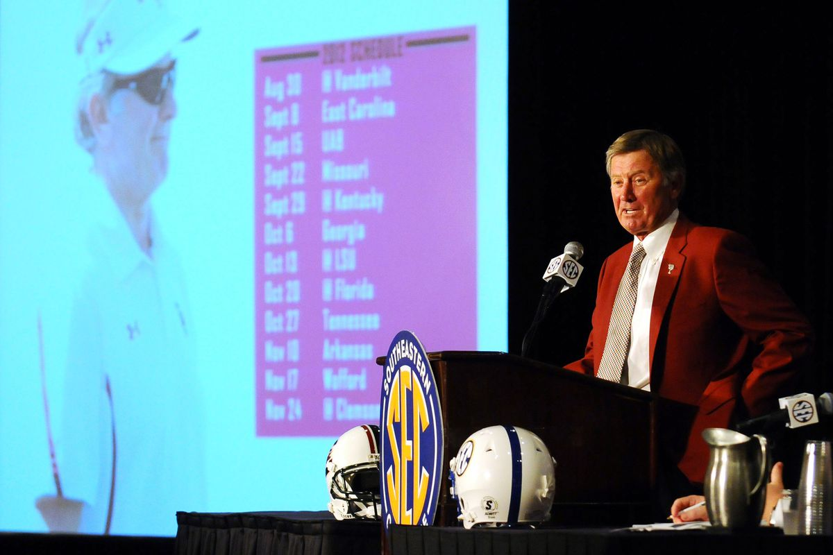 You can imagine Steve Spurrier as UF's president, right?