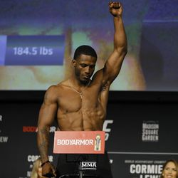 Karl Roberson poses at UFC 230 weigh-ins.
