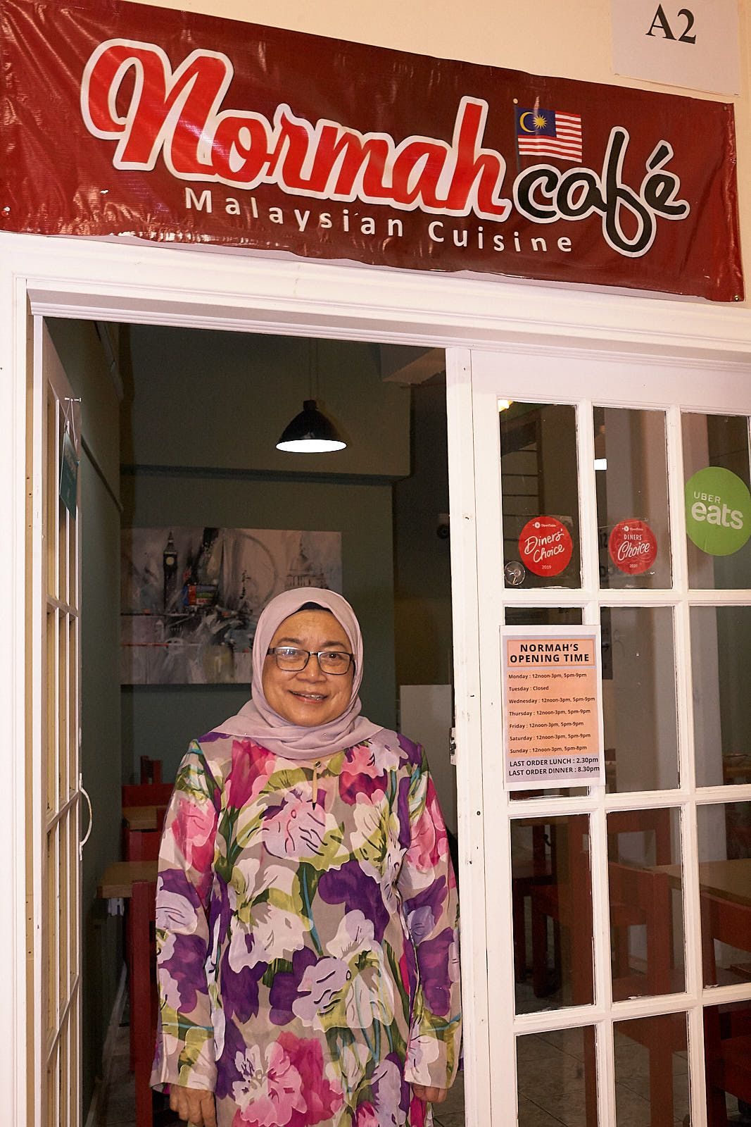 Normah Abd Hamid, at Normah's —one of London's best Malaysian restaurants, and best-value restaurants, before lockdown