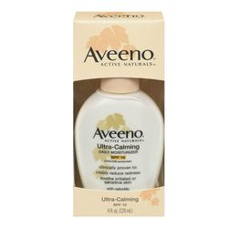 """<b>Aveeno's</b> Ultra Calming Daily Moisturizer is on the thicker side, making it a great night-time option. <a href=""""http://www.target.com/p/aveeno-ultra-calming-daily-moisturizer-broad-spectrum-spf-15/-/A-11047520#prodSlot=medium_1_13&term=aveeno"""">$10.8"""