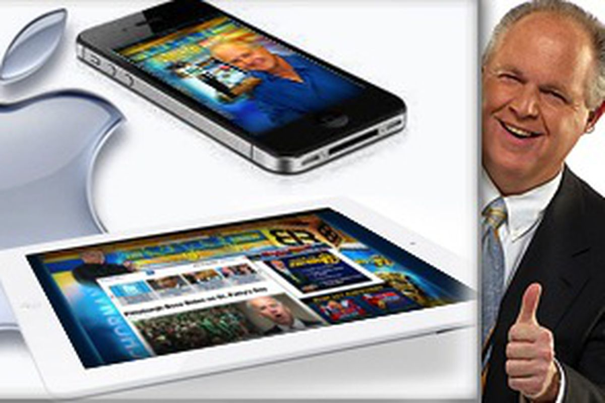 Rush Limbaugh Apple products (Credit: The Rush Limbaugh Show)