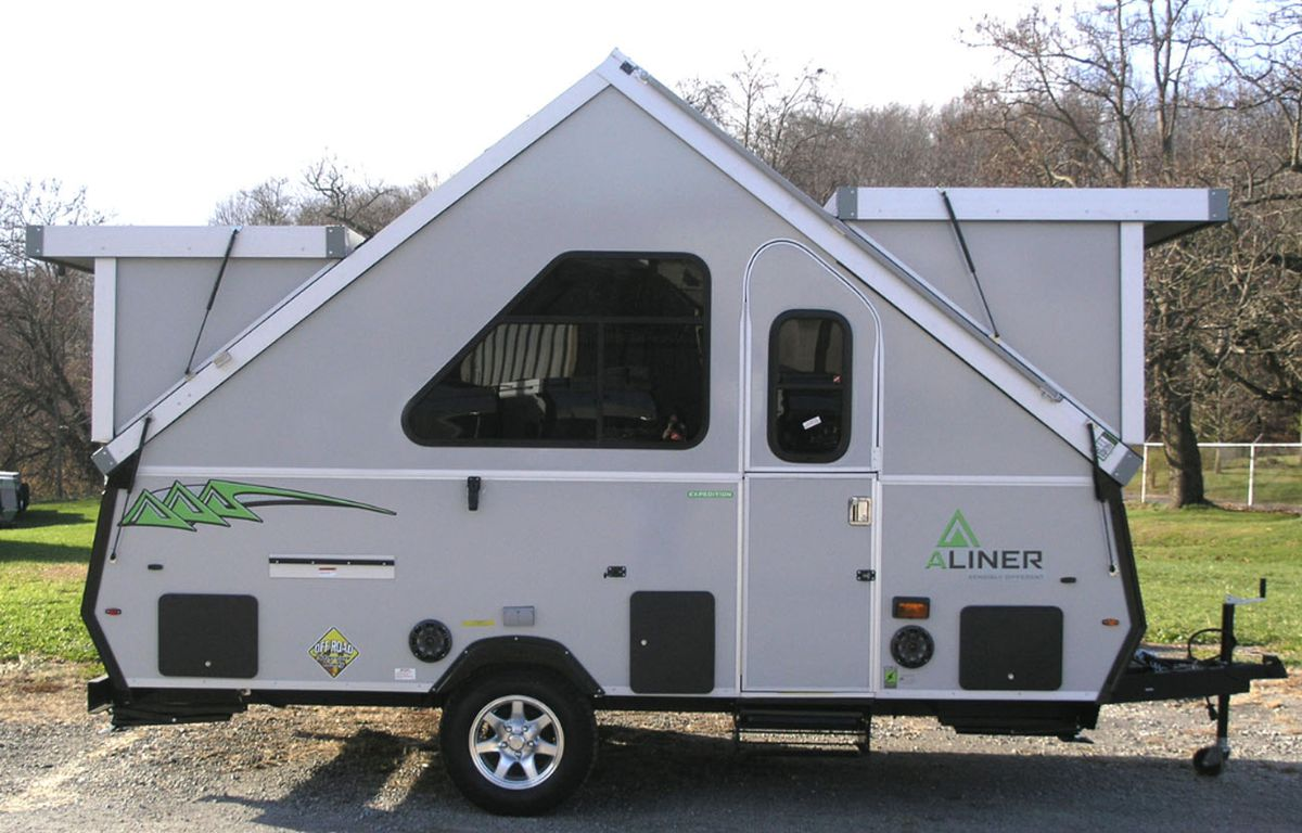 Pop-up camper is like an A-frame on wheels - Curbed