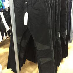 Pants with leather detail, $80 (were $285)