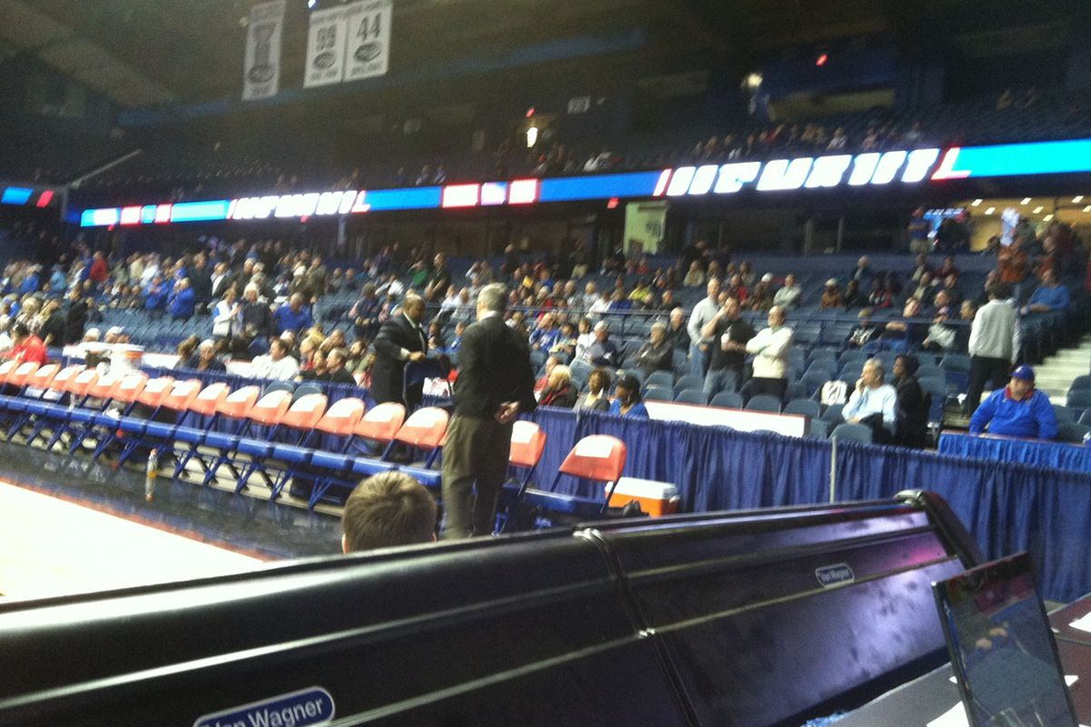 blurry, but a look at a DePaul crowd at game time.