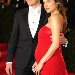Scott Campbell and Lake Bell in Tommy Hilfiger