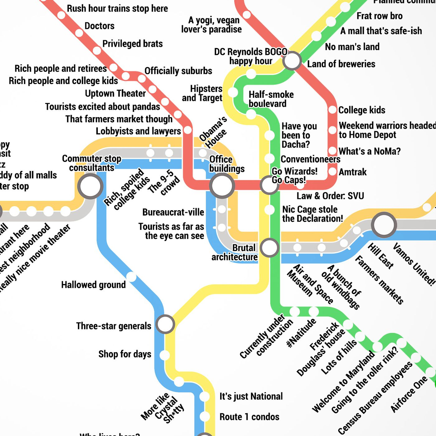 Thrillist Just Created The Most Accurate D C Metro Map Ever Curbed Dc