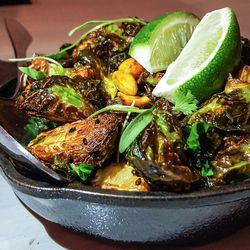 Vietnamese roasted Brussels sprouts with peanuts at Franklin Oyster House