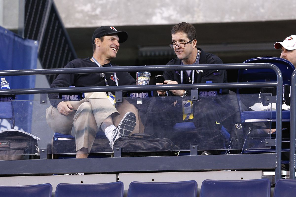 The brothers Harbaugh will get plenty of time to catch up while holding combined practices this preseason.