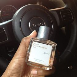 """This is totally normal, right? I scent my car with <b>Maison Francis</b> <a href=""""http://www.bergdorfgoodman.com/p/Maison-Francis-Kurkdjian-APOM-Pour-Femme-Maison-Francis/prod49990017___/?icid=&searchType=MAIN&rte=%252Fsearch.jsp%253FN%253D0%2526Ntt%253DM"""