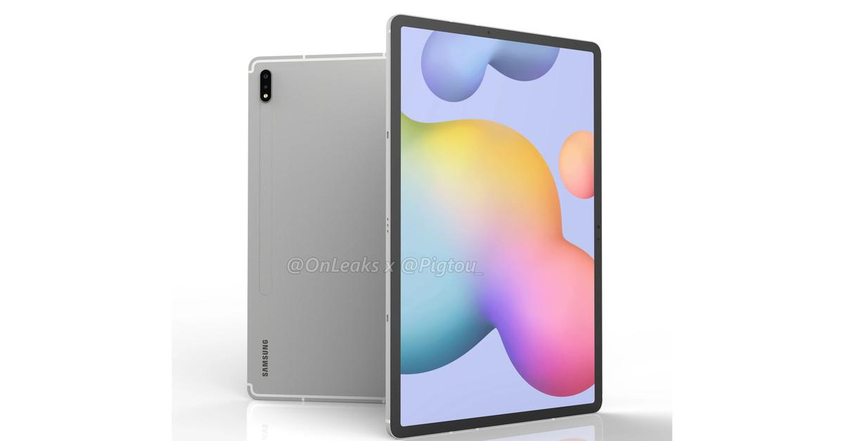 Galaxy Tab S7 Plus renders show off a big 12.4-inch display thumbnail