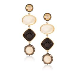 "Anna Ruth Henriques <a href=""http://www.stoneandstrand.com/earrings/soiree-earrings"">Soiree Earrings</a>, $2,948"