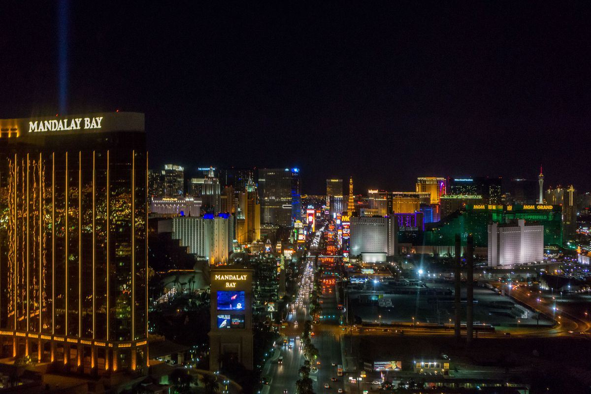 Las Vegas Strip view from Mandalay Bay