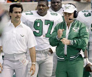 Jeff Fisher on the Philadelphia Eagles staff in 1986
