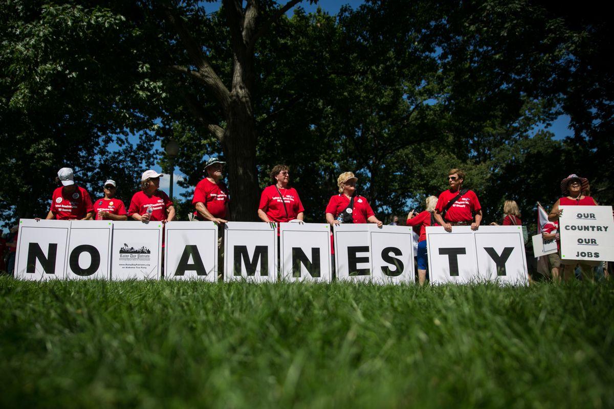 no amnesty protest