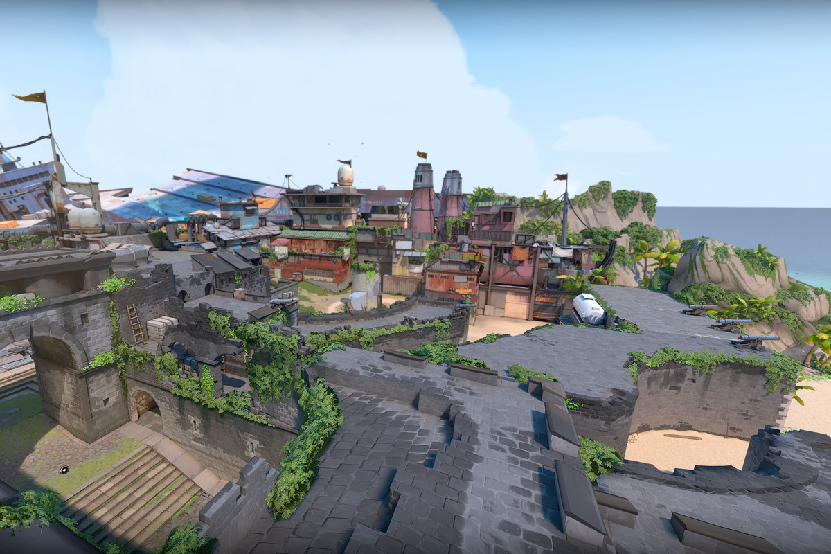 A birds-eye view of Breeze the new Valorant map for Episode 2 Act 3
