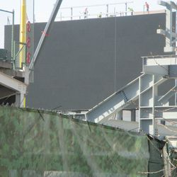 View of the video board from Sheffield -