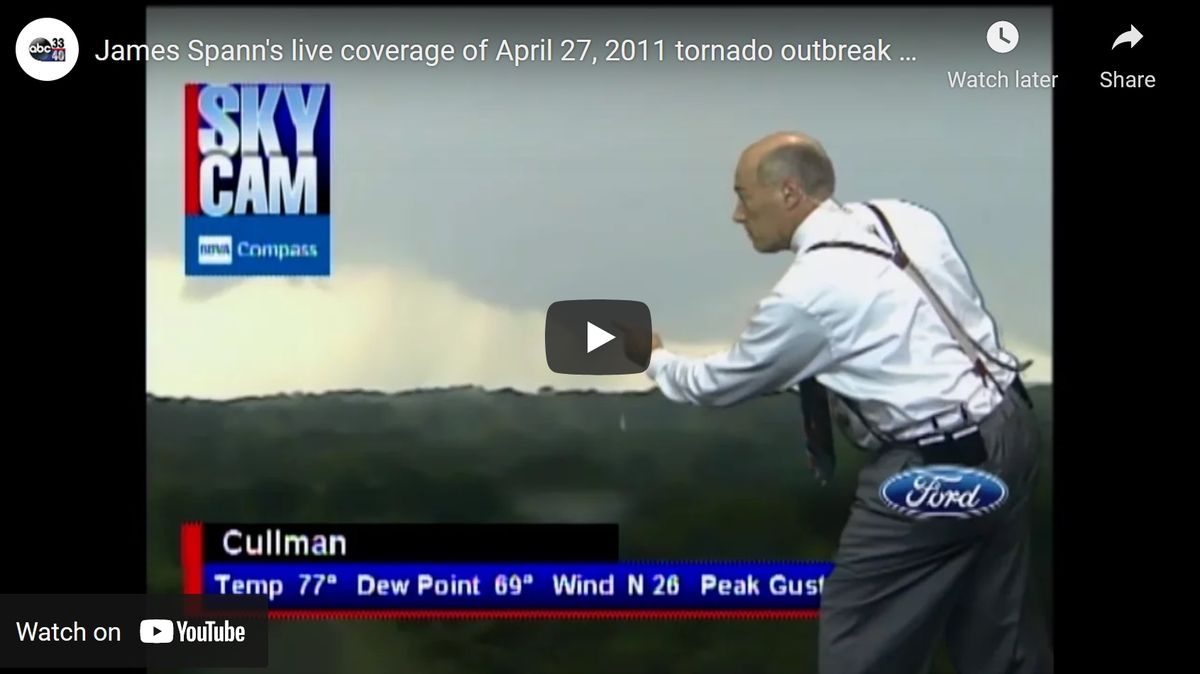 James Spann live coverage on Youtube