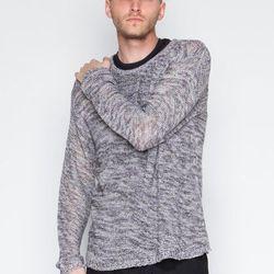 """Cheap Monday - Ben Sweater, <a href=""""https://www.shopwasteland.com/mens-new-sweaters/Cheap-Monday/Ben-Sweater/0235092/"""">$75</a>."""