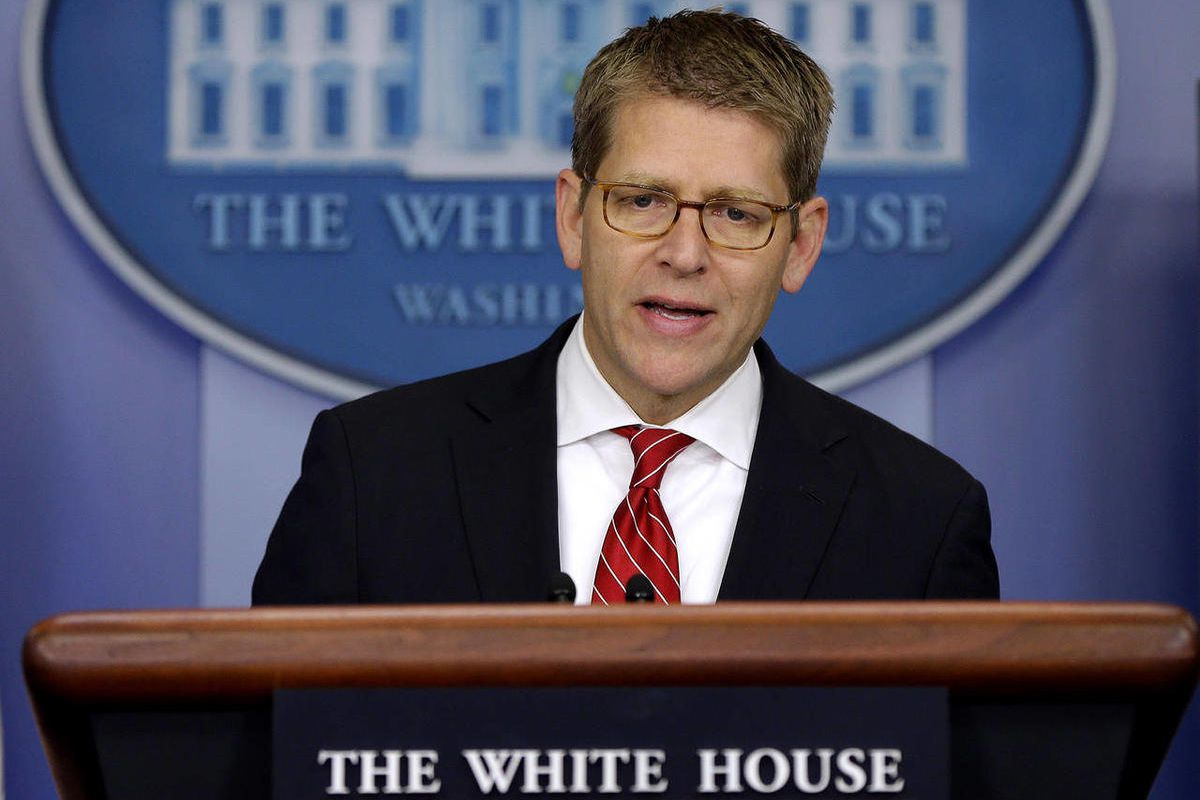 White House Press Secretary Jay Carney speaks during his daily news briefing at the White House in Washington, Friday, Sept., 14, 2012.