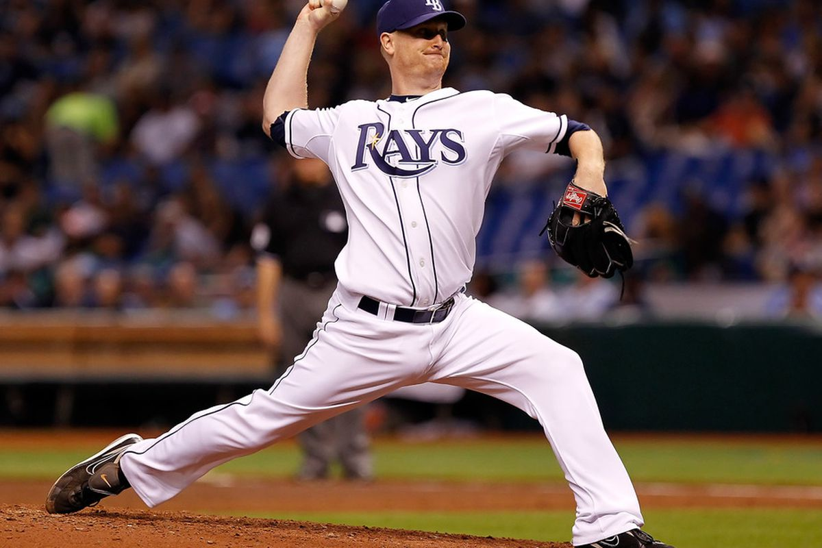 ST PETERSBURG, FL - JULY 18:  :  Pitcher Alex Cobb #53 of the Tampa Bay Rays pitches against the New York Yankees during the game at Tropicana Field on July 18, 2011 in St. Petersburg, Florida.  (Photo by J. Meric/Getty Images)