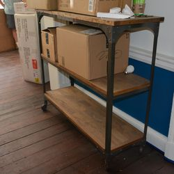 Bar cart for the patio.