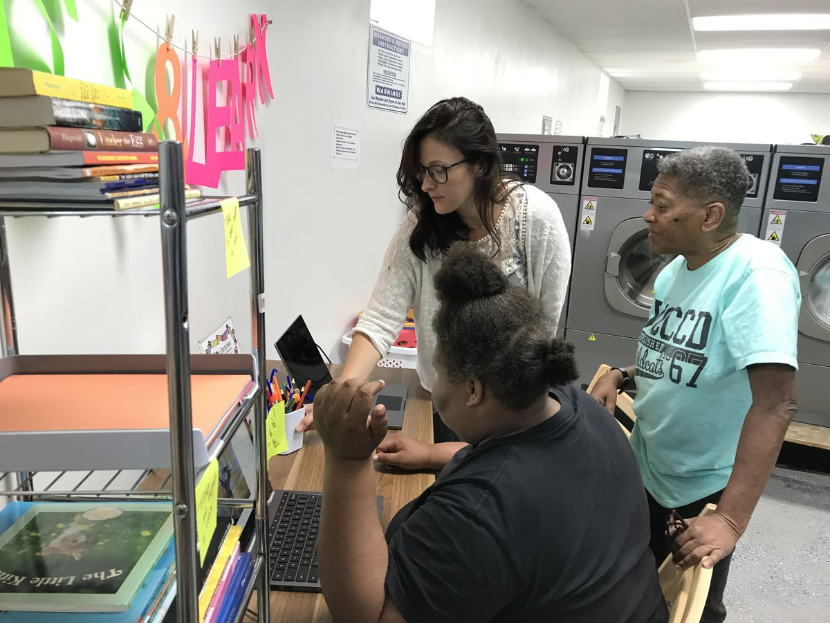 The Wash & Learn program has been in three Detroit laundromats this summer, offering kids instruction in reading, writing and computers.