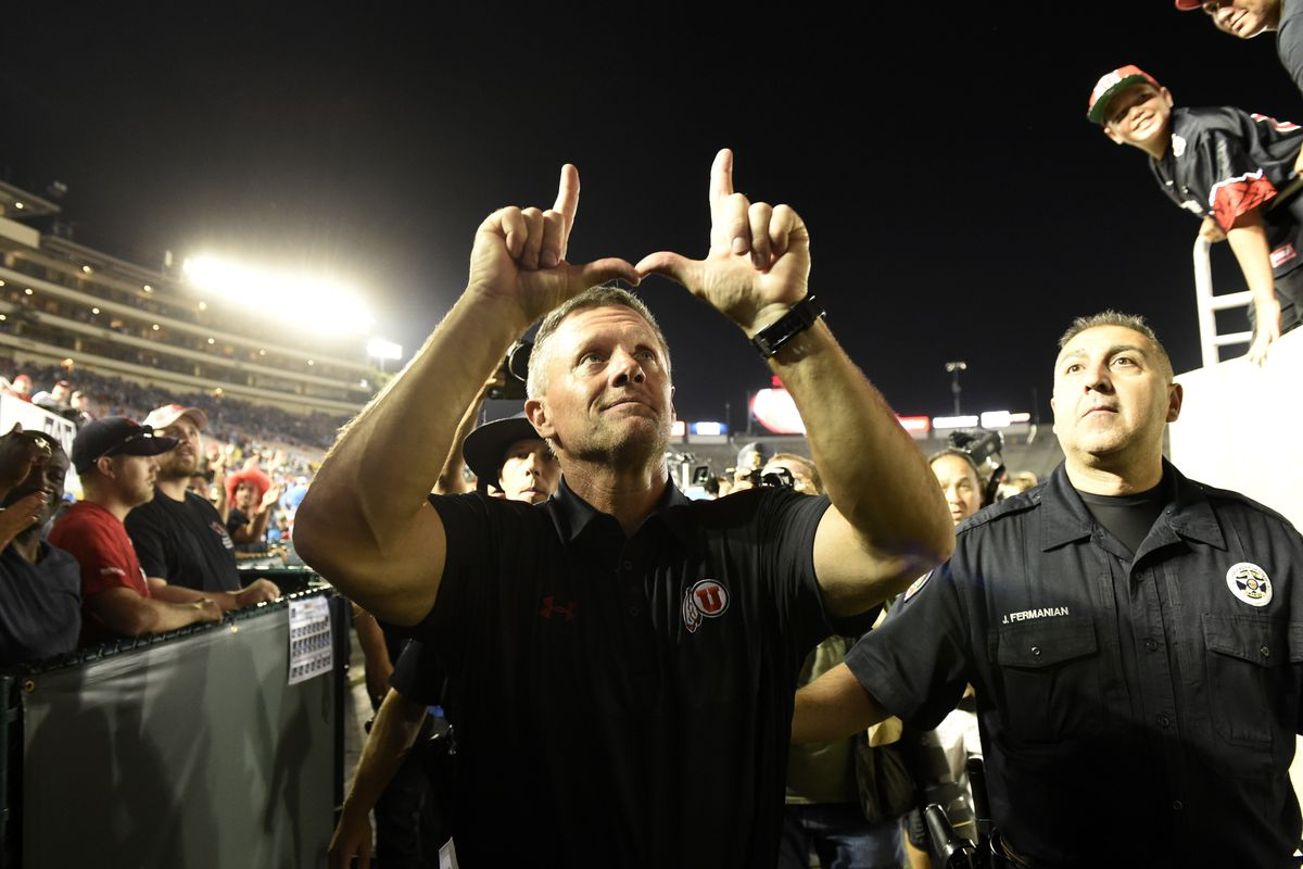 Utah head coach Kyle Whittingham looks to notch his first win in Corvallis and first Pac-12 winning record tonight against Oregon State.