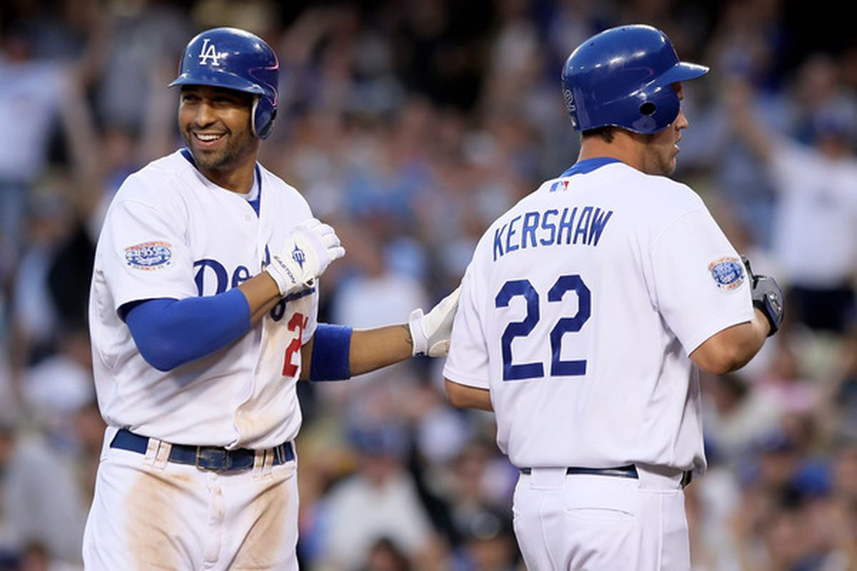 Matt Kemp and Clayton Kershaw were the top two stars of the first third of 2011 for the Dodgers.