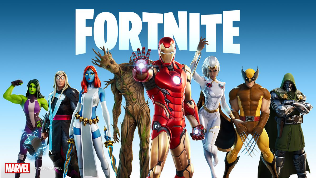 Fortnite's Marvel tie-in line up of skins and characters