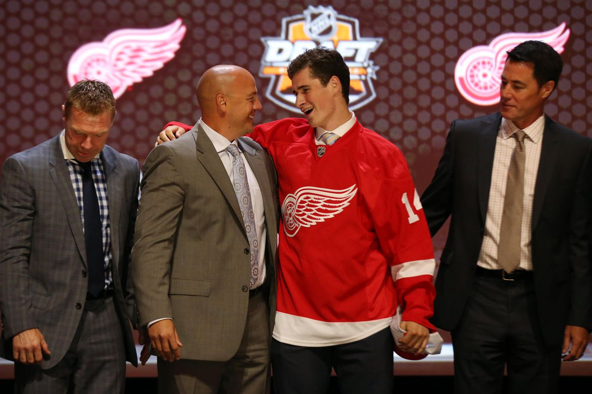 Michigan recruit Dylan Larkin was the first Big Ten player, and first NCAA player, selected in the 2014 NHL Draft