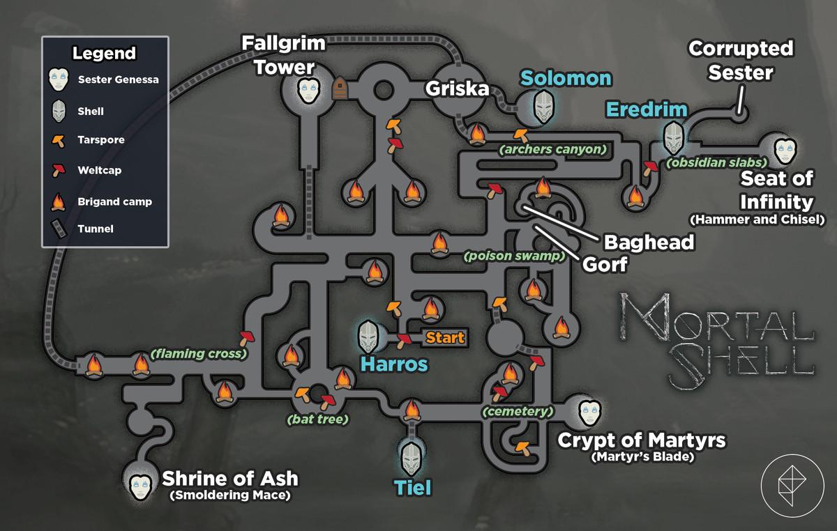 Mortal Shell map