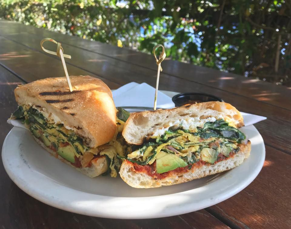 A breakfast sandwich from Cenote