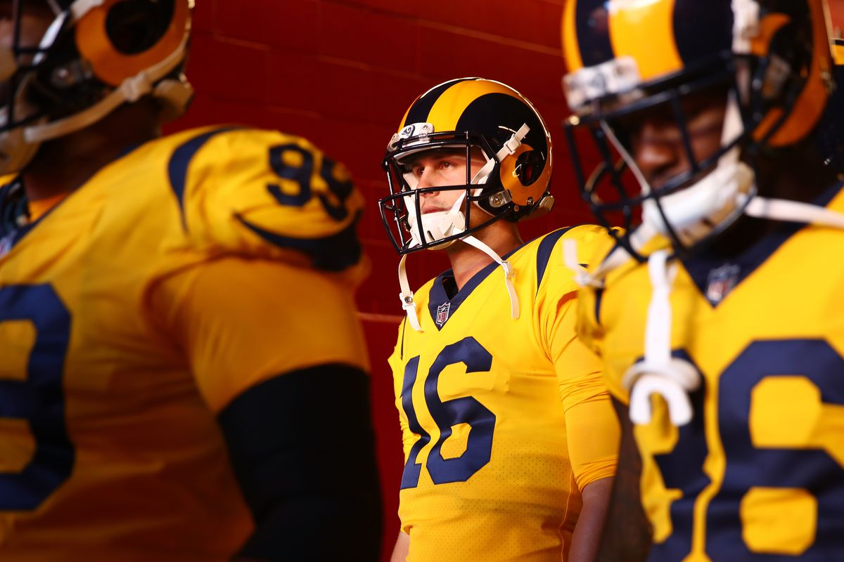 Los Angeles Rams QB Jared Goff in the tunnel prior playing the San Francisco 49ers in Week 3, September 21, 2017.