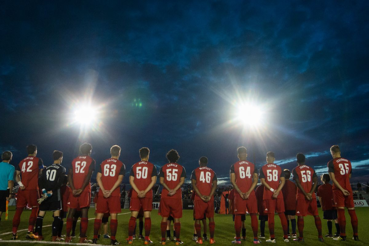 USL Photo - Toronto FC II, lining up ahead of a clash with Louisville City FC, will play their final match at the Ontario Soccer Centre on Saturday night against FC Cincinnati