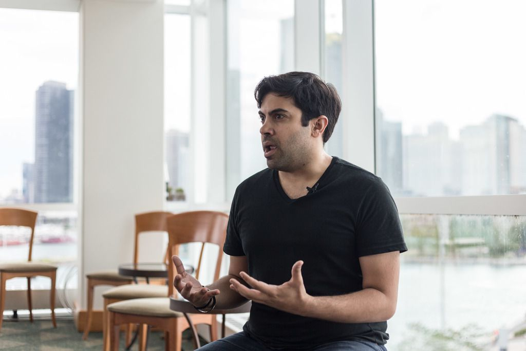 """""""I don't consider myself special by any means. I'm just a guy that happens to be deaf [who] is living his dream,"""" says actor Richard Costes.   Erin Brown/Sun-Times"""