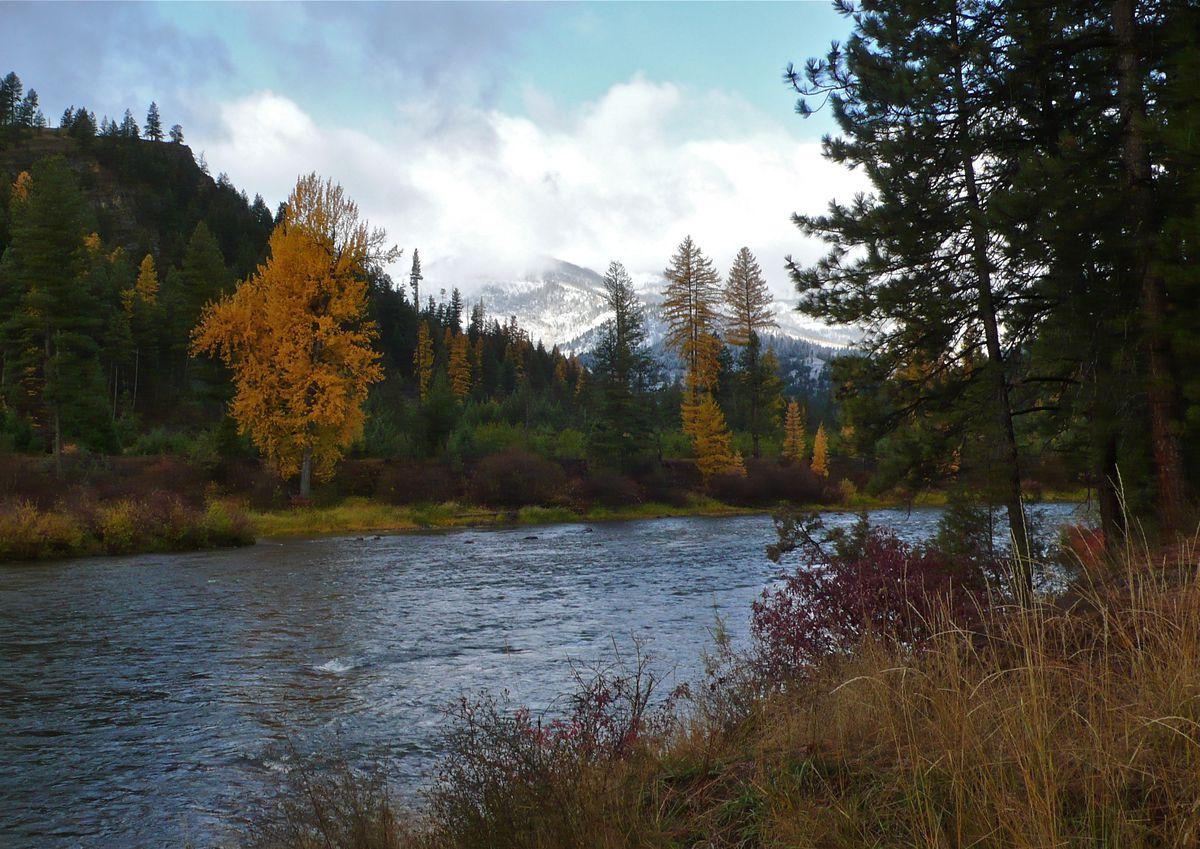 The lower Blackfoot River in early winter. Credit: John Maclean