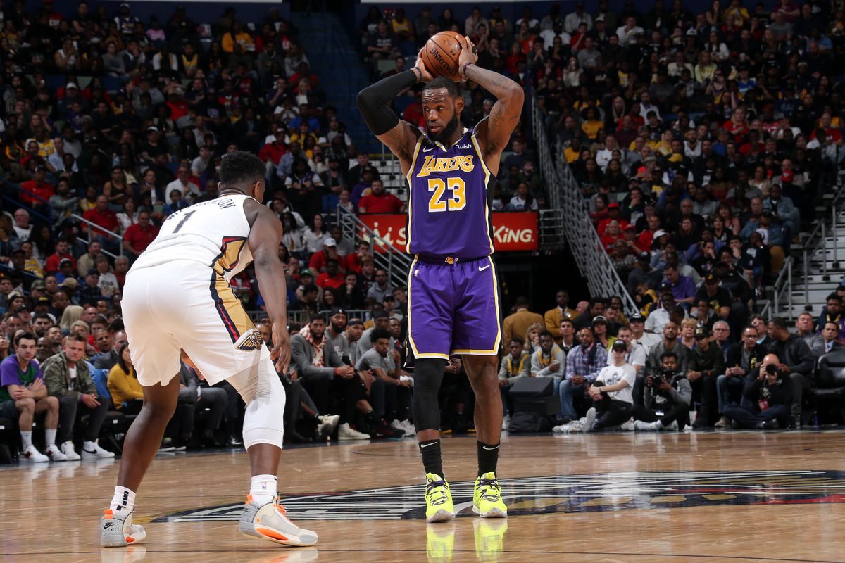 Lakers Vs Pelicans Final Score Lebron James Does It All In 122 114 Win Over New Orleans Silver Screen And Roll