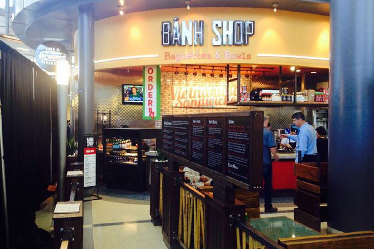 Banh Shop inside DFW Airport.
