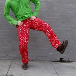 """<strong>Betabrand</strong> Nauseating Holiday Pants, <a href=""""http://www.betabrand.com/nauseating-holiday-pants.html"""">$80</a>"""