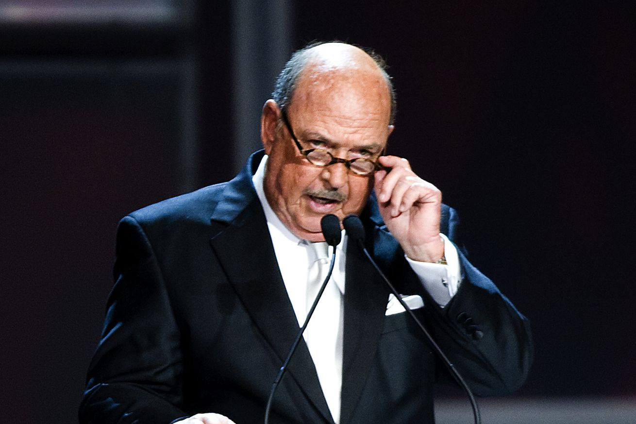 Mean Gene Okerland at the 25th Anniversary of WrestleMania's WWE Hall of Fame in 2009.