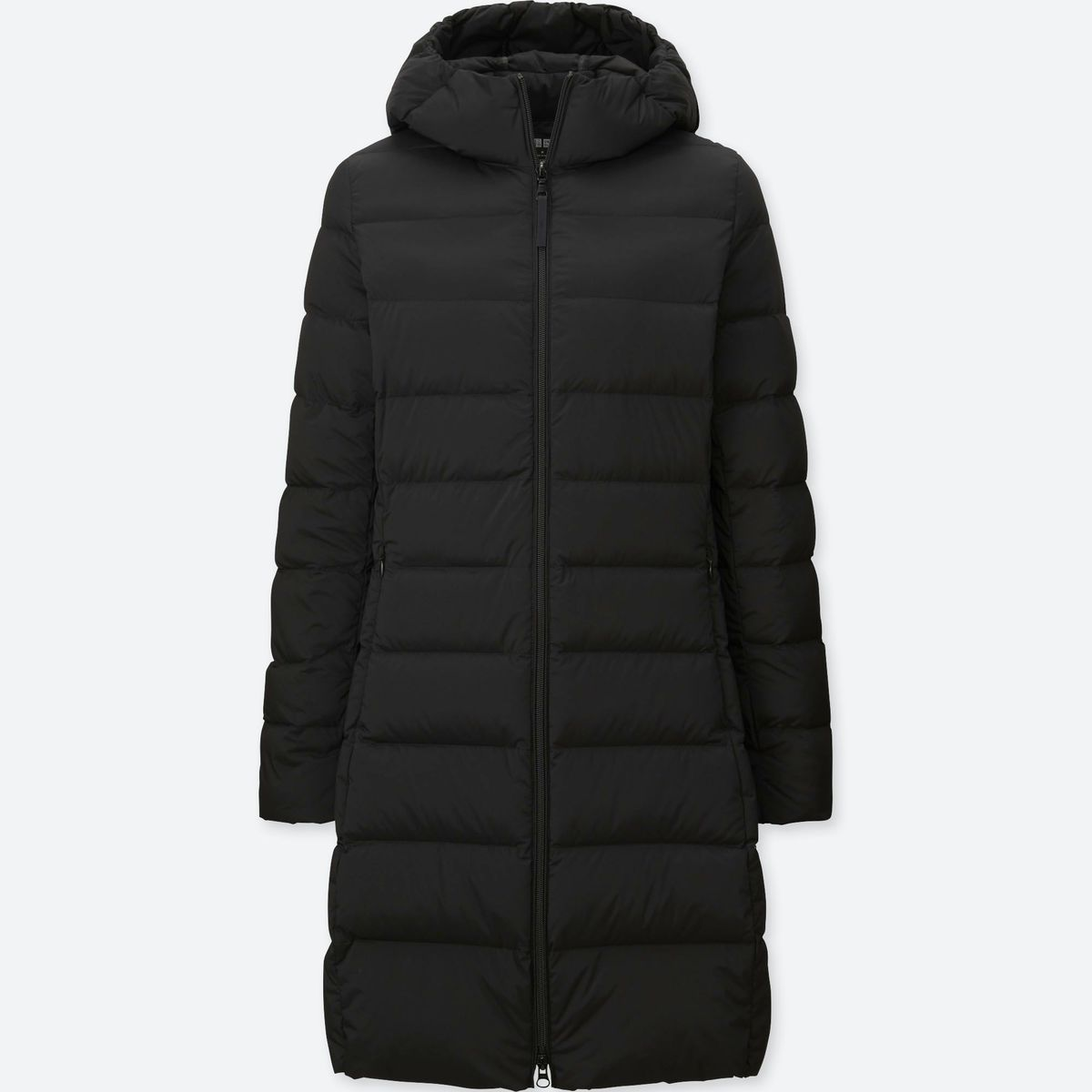 A black down jacket