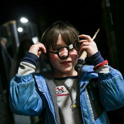 Eric Jones, 7, dons his homemade Harry Potter glasses during Wizarding Dayz at the South Towne Expo Center in Sandy on Friday, Feb. 24, 2017.