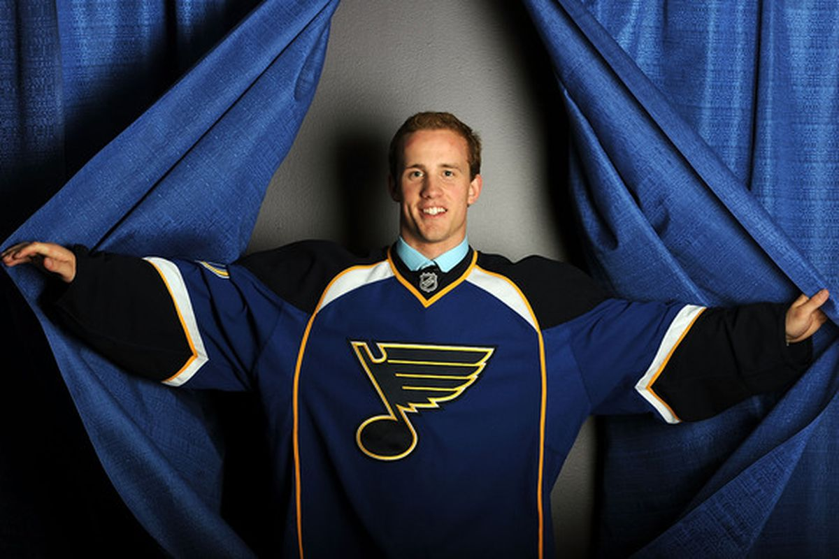 Appearing on center stage, put your hands together for Jaden Schwartz! (Photo by Harry How/Getty Images)