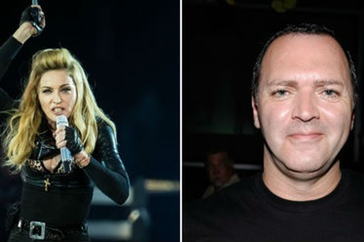 Madonna, left; Bro, Christopher Ciccone, right. Images via Getty
