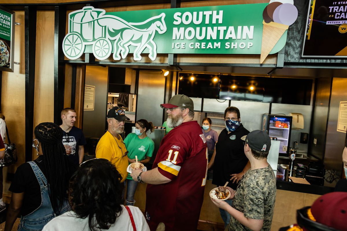 The new South Mountain Ice Cream stand at FedEx Field