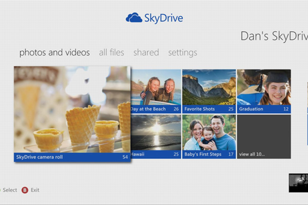 SkyDrive Xbox