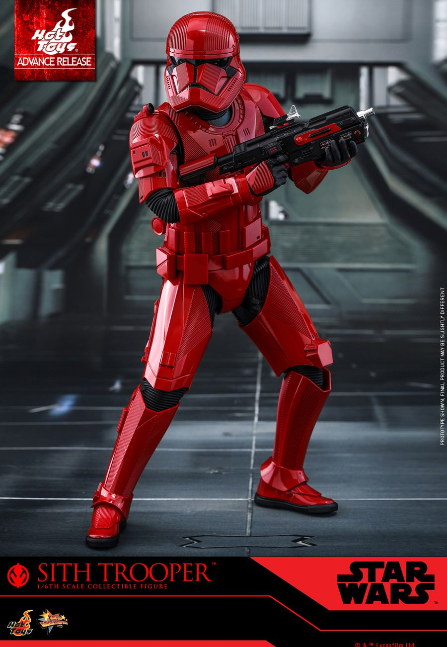 A scale replica 1/6 of a Sith Trooper of Hot Toys, on sale during the San Diego Comic Con 2019.