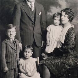 Antonio (Tony) Furano, his wife Matilda, and three of their young children. Tony was a saucier/chef at the Hotel Utah.  (Provided by Joanne Milner)