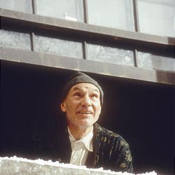 "Patrick Stewart as Ebenezer Scrooge in the 1999 TV version of ""A Christmas Carol."""